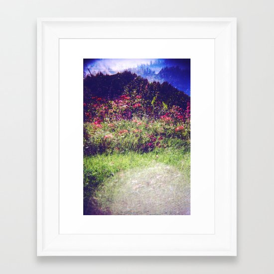 Flowers Plastic Camera Double Exposure Framed Art Print