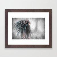 Walking Through Fog Framed Art Print