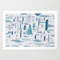 Northern Town Art Print