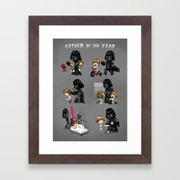 Father Of The Year Framed Art Print