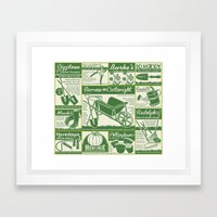 Gardening Tool Advertising Framed Art Print