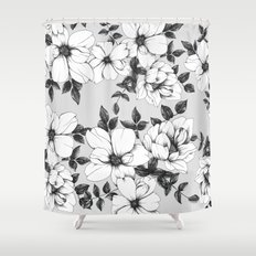 Grey Spring Shower Curtain