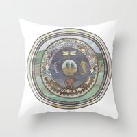 Journey Inwards  Throw Pillow