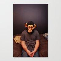 monkey mask  Canvas Print