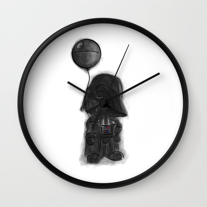 Darth Vader Death Star Wall Clock By Darthdaloon Society6