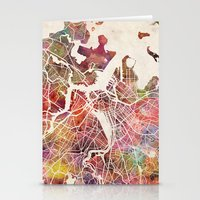 boston Stationery Cards featuring Boston by MapMapMaps.Watercolors