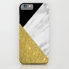 Marble & Gold Geometry iPhone 6 Slim Case