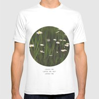 Daisy Days Mens Fitted Tee White SMALL