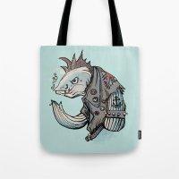 Punk Fish Tote Bag
