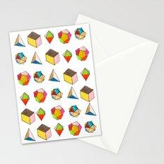 Platonic Solids Stationery Cards