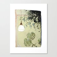 Canvas Print featuring Indoor landscape I by Stroke a Bird