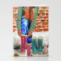 Autumn shoes Stationery Cards