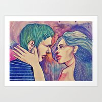 Talk to me Art Print