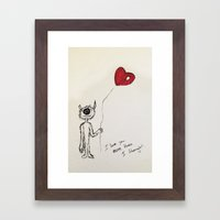 I love you more than I thought Framed Art Print