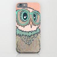 Owl wearing glasses II iPhone 6 Slim Case