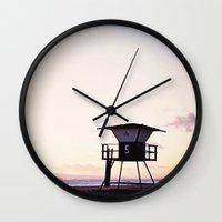 Vintage Lifeguard Tower … Wall Clock