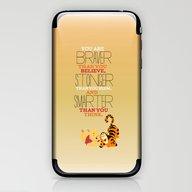 iPhone & iPod Skin featuring Stronger, Braver, Smarte… by Studiomarshallarts