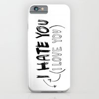 iPhone & iPod Case featuring I HATE\LOVE YOU by When the robins came