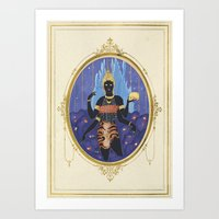Ratri, the indian goddess  Art Print