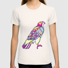 Love Hawk Womens Fitted Tee Natural SMALL