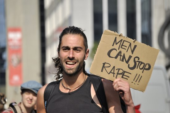 Men can stop rape Art Print