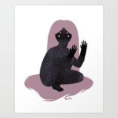 Space Girl 5 Art Print