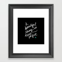 A Beautiful Thing (inver… Framed Art Print