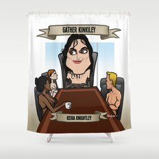 Gather Kinkiley (Keira Knightley) Shower Curtain