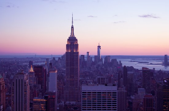 Top of the Rock - New York Skyline Art Print