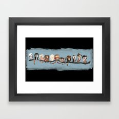 Doctor Hoo - Painted Version Framed Art Print