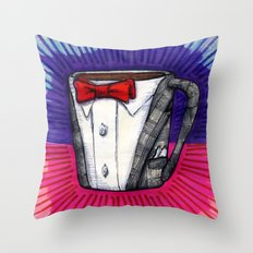 I drew you a Pee-wee Herman Suit Mug of Coffee Throw Pillow