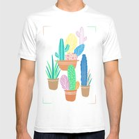 Cactus Mens Fitted Tee White SMALL