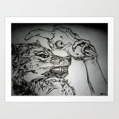Pullin the Wolf Over My Eyes Art Print