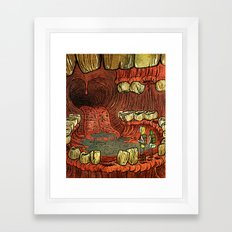 At The Mouth Framed Art Print