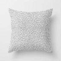 Keys Allover Print Throw Pillow