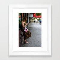 Leaning, Waiting Framed Art Print