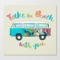 Take The Beach With You Canvas Print