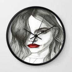 Sasha with Red Lips Wall Clock