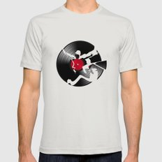 music  Mens Fitted Tee Silver SMALL