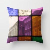Street View  - JUSTART �… Throw Pillow
