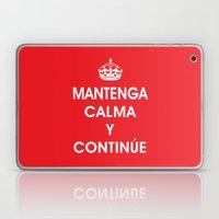 Mantenga Calma Y Continu… Laptop & iPad Skin