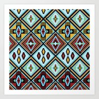 NATIVE AMERICAN PRINT Art Print