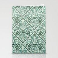 Art Nouveau Grunge Patte… Stationery Cards