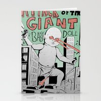 Attack of the Giant Baby Doll Stationery Cards