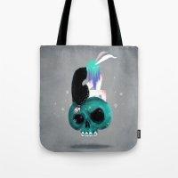 Girl and Skull Tote Bag