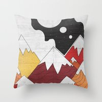 Three Moon Mounts Throw Pillow