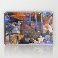 Blue Water &  Golden Lea… Laptop & iPad Skin
