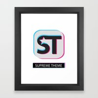 Supreme WordPress Theme Framed Art Print