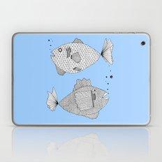 Two Fish Blue Fish Laptop & iPad Skin