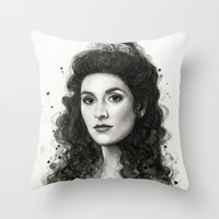 Deanna Troi Throw Pillow